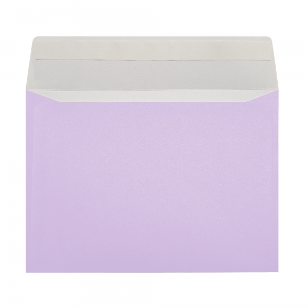 purple peel and seal wallet envelope wedding florist